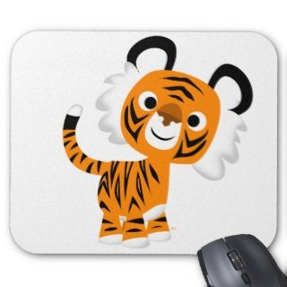 Niedlicher neugieriger Cartoon Tiger Mousepad
